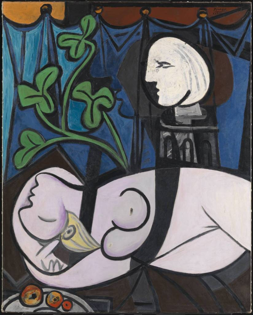 Nude, Green leaves and Bust (also known as Bust Nude with Sculptor's Turntable) 1932 by Pablo Picasso 1881-1973