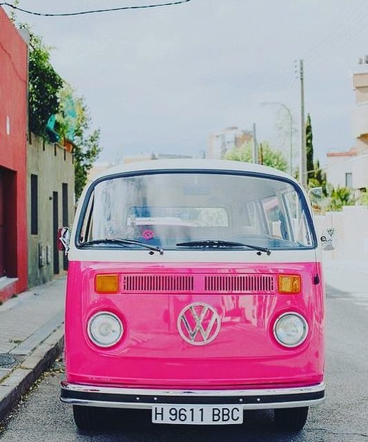 Dream car VW vanlife pink explore citizensoftheworld travel instatravel carshellip